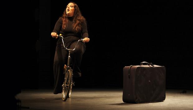 La Bicicletera, con Alicia Acuña. Foto Félix Vázquez, Sevilla 2009